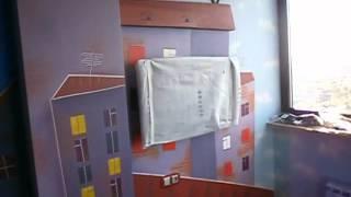 Роспись детской игровой в квартире.