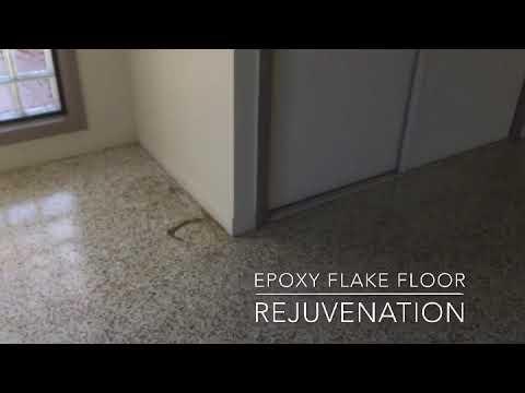Epoxy Flake Floor Rejuvenation