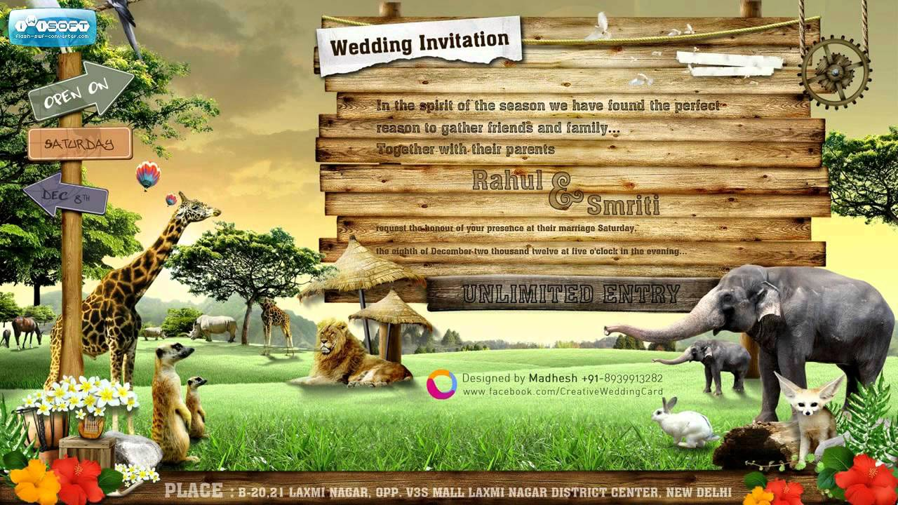 Creative Wedding Card - YouTube