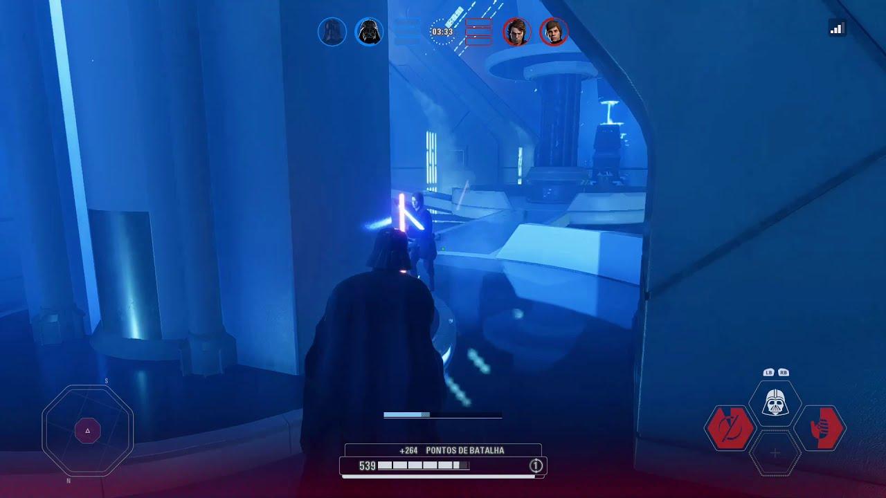 Download Gameplay Star Wars Battlefront 2 | Modo Confronto de Heróis | Duelo de sabres de luz (1 vs 2)
