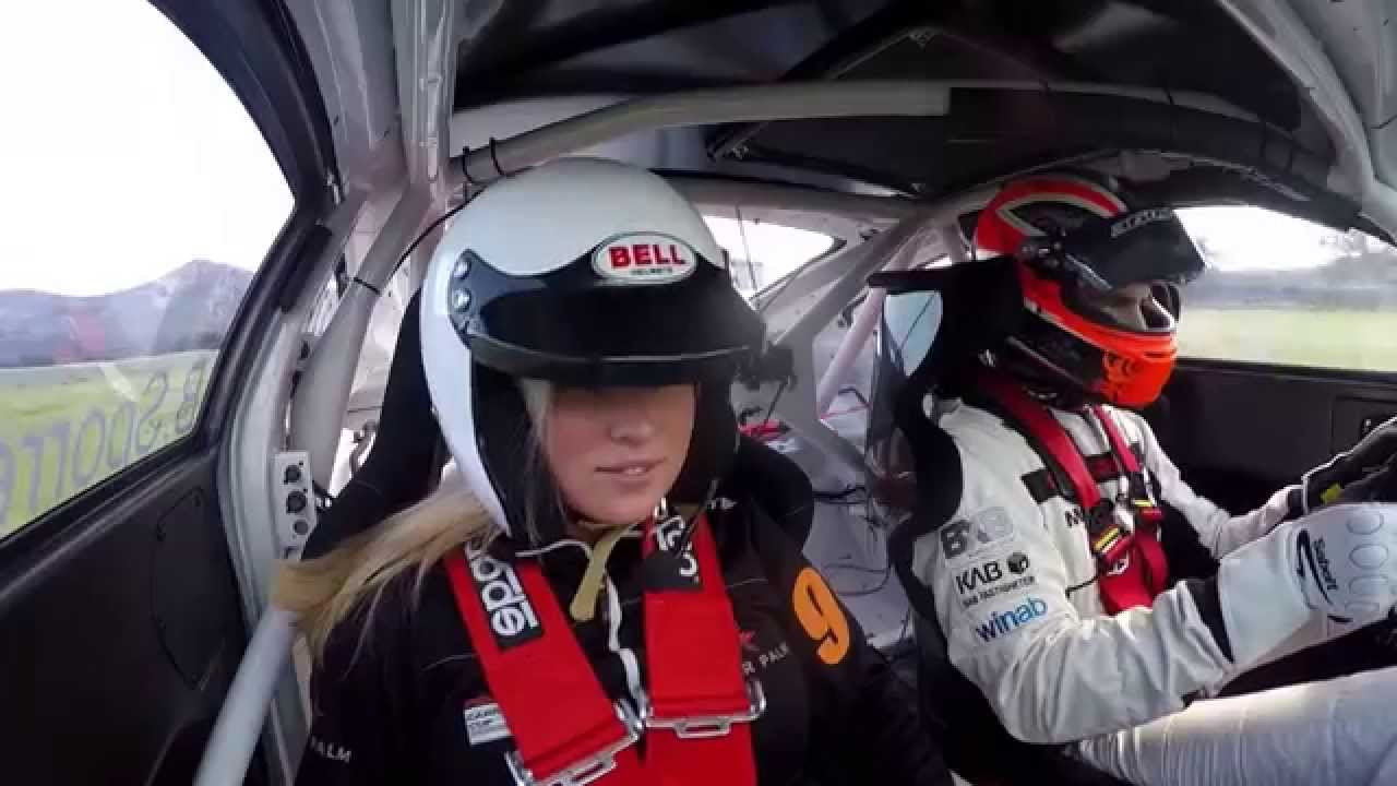 Porsche Driver Drives His Girlfreind In A  Gt Cup Car