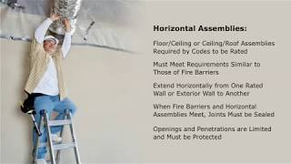 Fire Barriers, Horizontal Assemblies, and Fire Partitions Overview