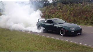 EPIC Toyota Supra Burnout!