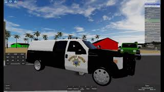 Roblox CHP F-250 Super Duty's lights and sirens