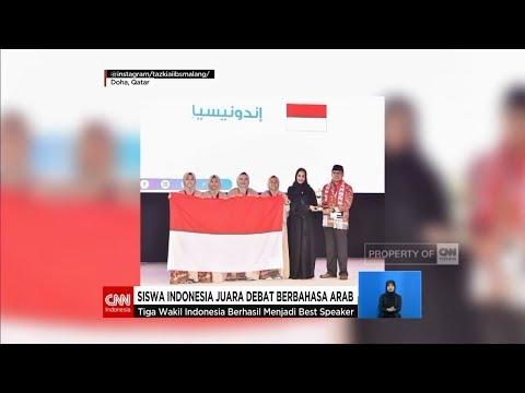 Bangga! Siswa Indonesia Juara Debat Berbahasa Arab