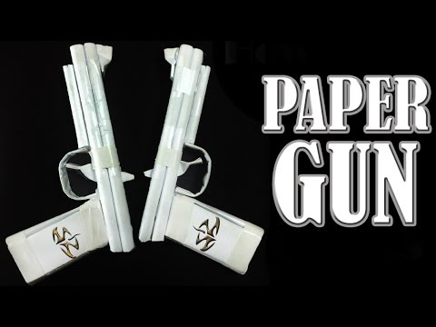 Thumbnail: How to Make a Paper Gun That Shoots - ( Rubber Band Paper Gun with Trigger )
