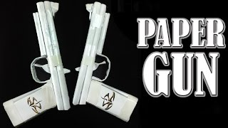 How to Make a Paper Gun That Shoots - ( Rubber Band Paper Gun with Trigger )
