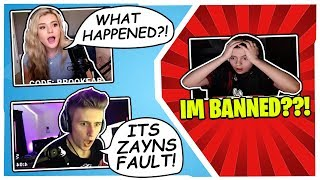 STREAMERS REACT TO CLIX BEING *BANNED* ON TWITCH!