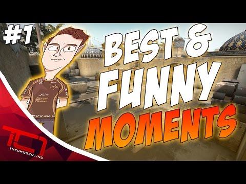 CS GO PRO FUNNY MOMENTS & HIGHLIGHTS - #1 (Kiss Cam, Flusha VAC, NINJA ) - 동영상
