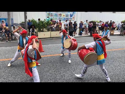 園田青年会 2018/7/15 第一回おきなわ屋本店エイサー祭り