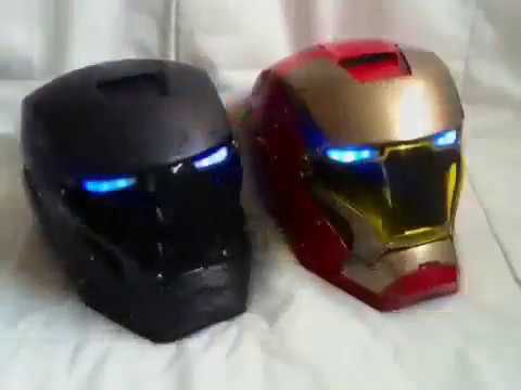 casco iron man moto iron man moto helmet youtube. Black Bedroom Furniture Sets. Home Design Ideas