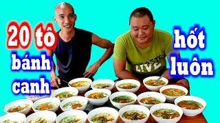 🥣Thử Thách Ăn 20 Tô Bánh Canh - Cười Đau Cả Bụng Với Cô Chủ Quán Hài Hước   Sơn Dược Vlogs #565