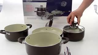 """Обзор «Набор посуды """"Bohmann"""", цвет: коричневый, 8 предметов. 6208BН»"""