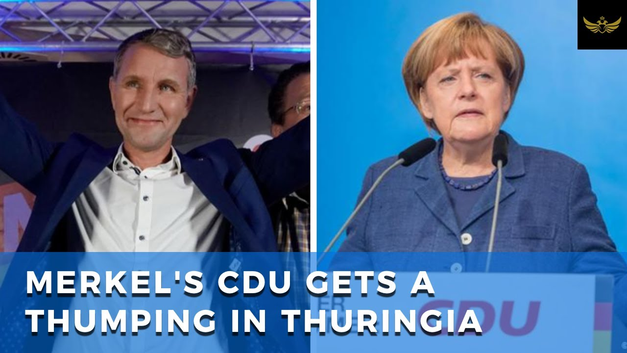 Die Linke and AfD score big win in Germany Thuringia election. Merkel CDU sinks to third place