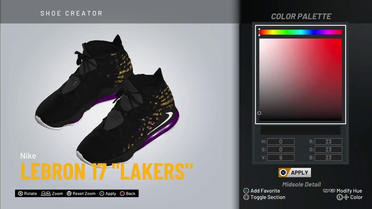 NBA 2K20 Shoe Creator | Nike Lebron 17
