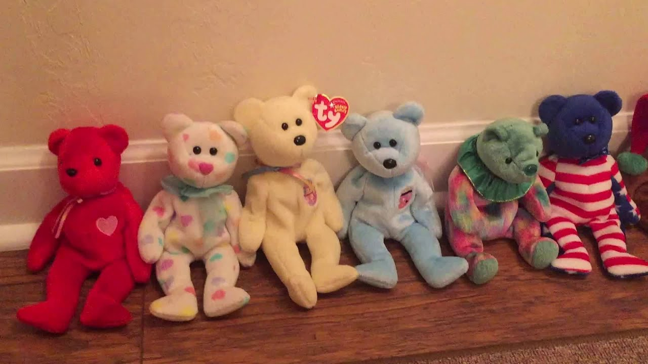 ty beanie babies bear collection youtube. Black Bedroom Furniture Sets. Home Design Ideas