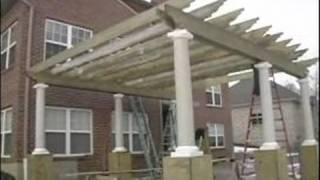 How To Build A Pergola Or Trellis : Attaching Cross Beams To Pergola