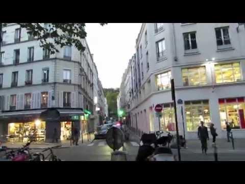 Evening walk from Boulevard Magenta along the Boulevard de Rochechouart in Paris