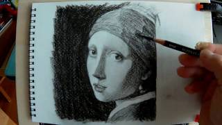 Pencil Drawing - Girl with a Pearl Earring