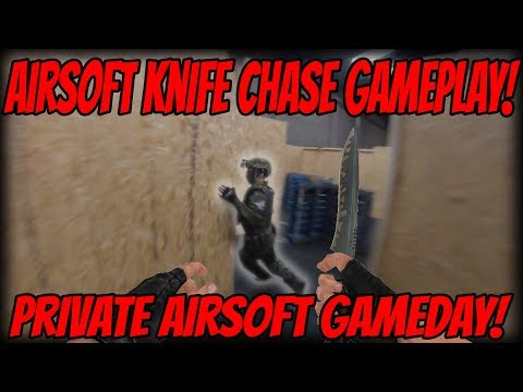 CQB Airsoft Knife Chase Gameplay! Private CQB Gameday!