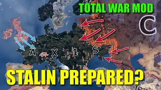 What if Stalin was prepared? - WWII Hoi4 Timelapse