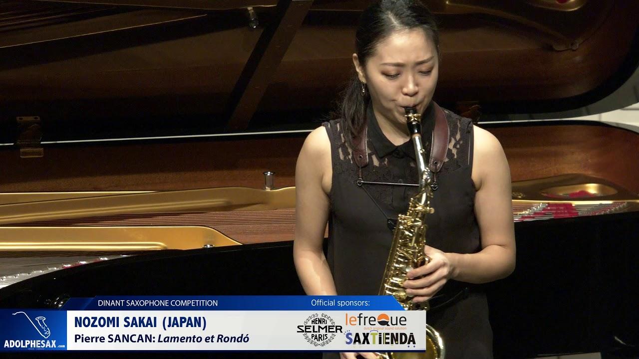 Nozomi Sakai (Japan) - Lamento et Rondó by Pierre Sancan (Dinant 2019)