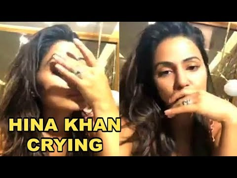 Hina Khan Crying On Facebook Live Video