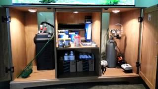 Aquarium Stand Cabinet Lighting