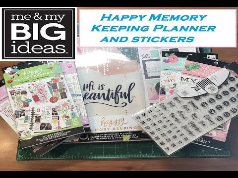 New Happy Memory Keeping Planner and sticker books  flip through
