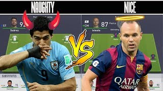 NAUGHTY PLAYERS 👹 VS NICE PLAYERS 😇 - FIFA 18 EXPERIMENT! DOLLAR STORE FORFEIT!