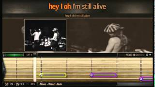 Bandfuse: Rock Legends - PS3 -  Alive by Pearl Jam - Guitar - 100% - Easy Difficulty PlayStation 3