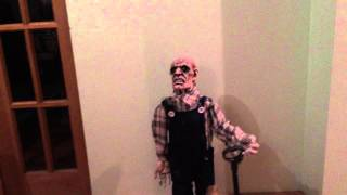 2.5Ft Halloween Party/Prop Grave Digger/red Eyes/Lights/sound/Moving/Standing