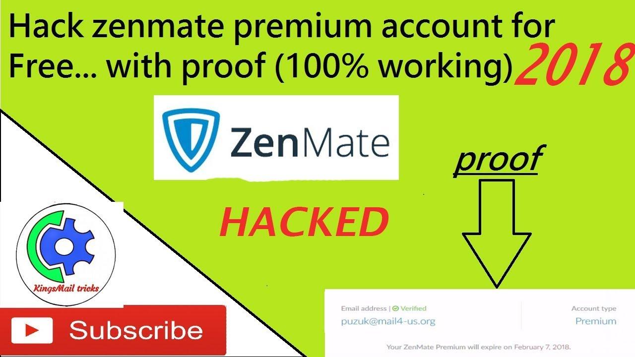 Zenmate premium account hack (100% working) updated Jan 2018