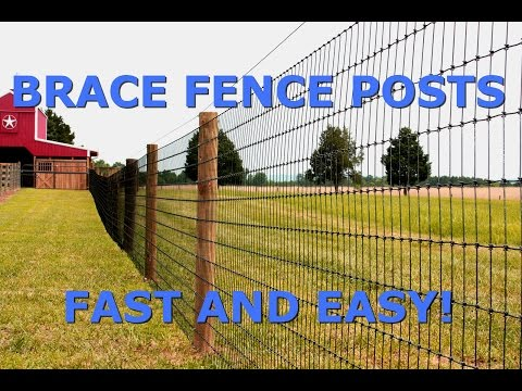 How To Brace Fence Posts FAST And EASY!