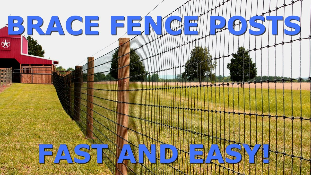 How To Brace Fence Posts Fast And Easy Youtube