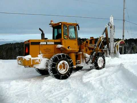 Frontend Loader Plowing Snow Youtube