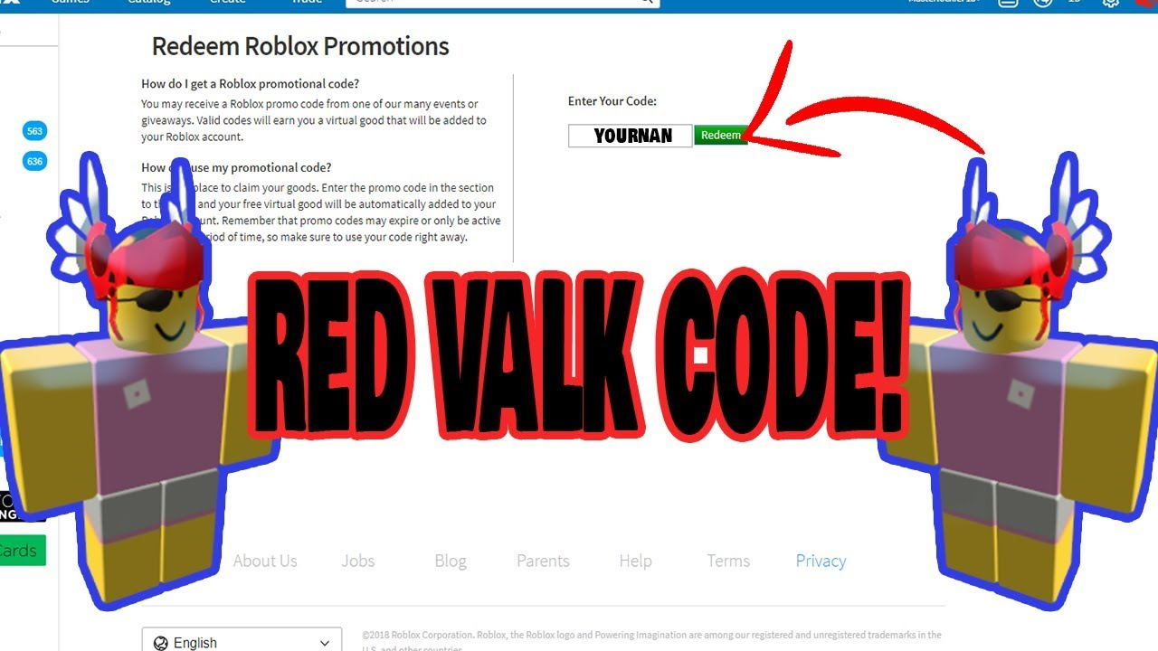 2019 How To Get Red Valk Code Youtube