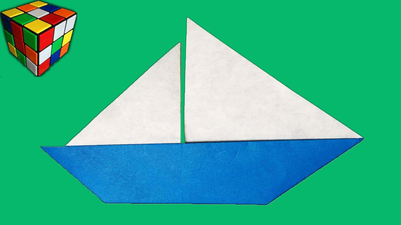 Origami Tutorial Origami Sailboat  YouTube