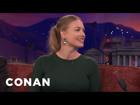 Yvonne Strahovski Was Repulsed By Her Husband   CONAN on TBS