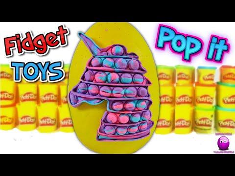 Huevo Sorpresa Gigante de Play Doh de FIDGET TOYS - POP IT UNICORNIO