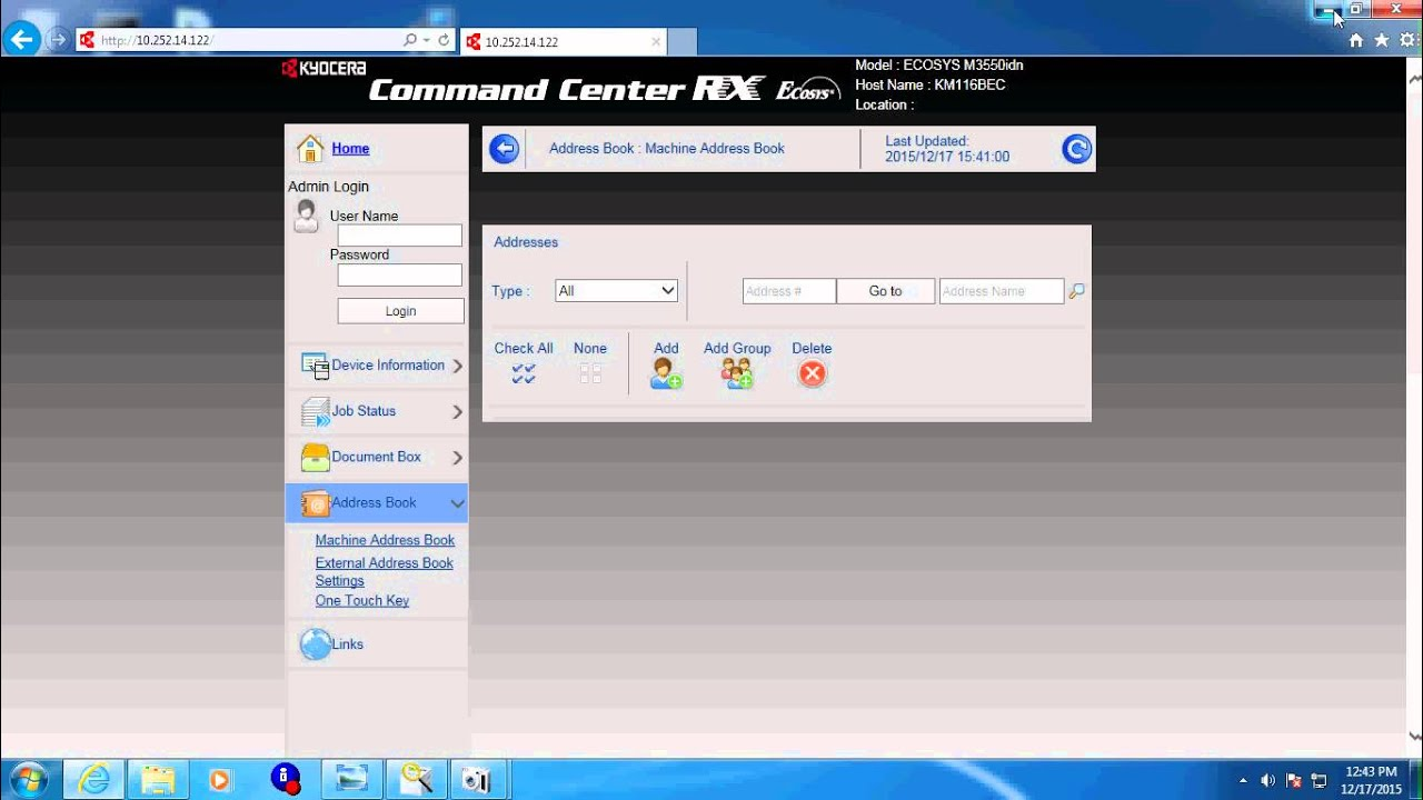 Creating a Kyocera address book from csv