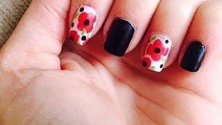 Poppy nails for Remembrance/ Veteran