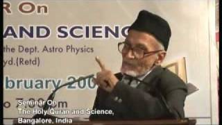 Ahmadiyya: Quran & Science Seminar at Bangalore by Hafiz Prof Dr. Alladin Sb, (10/10)