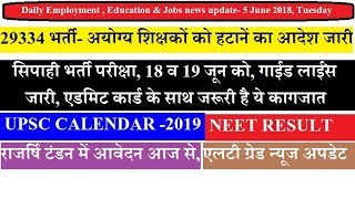 Daily Employment, Education & Career News- 5 June 2018