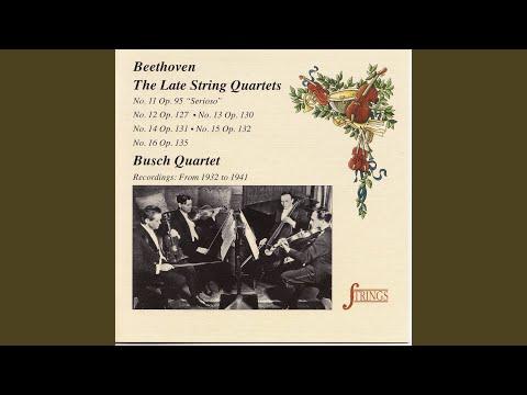 String Quartet No. 13 In B-Flat, Op. 130: V. Cavatina. Adagio Molto Espressivo