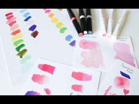 Sparkle Pens Comparison And Review - Spectrum Noir Sparkle Pens & Zig Wink Of Stella Glitter Markers