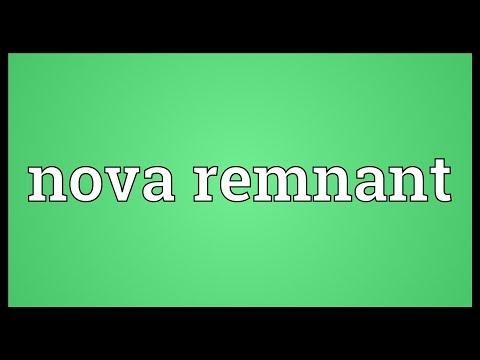 Nova remnant Meaning