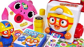 Pororo sticker maker Toys PlayThe Baby Shark did a good thing Give a Pororo sticker PinkyPopTOY