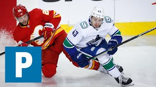 Quinn Hughes reflects on the season after 6-2 loss to Calgary Flames   The Province