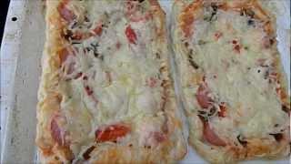 Пицца из слоеного теста за 20 минут //  Рецепты приготовления пиццы(РАЗВЕРНИ!!!!!!!!! ВАЖНАЯ ИНФОРМАЦИЯ!!!!!!!!! Сегодня покажу вам как я готовлю пиццу из слоеного теста за 20..., 2012-07-03T17:29:51.000Z)